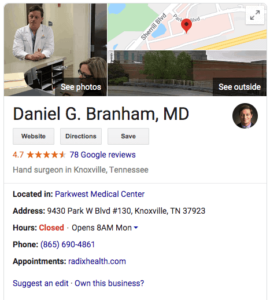 medical marketing physician listings